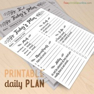 Modern Elements: Today's Plan Daily Planner