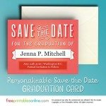 Printable Graduation Save the Date Card