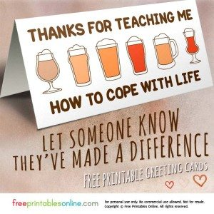 Funny Thank You Card to Cope with Life