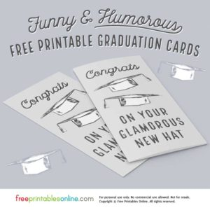 Congrats on Your New Hat Humorous Graduation Card