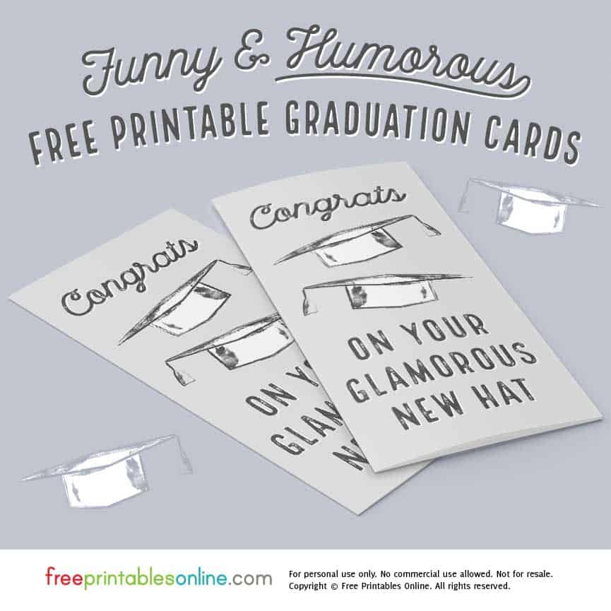 humorous graduation card