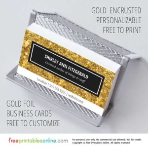 Elegant & Fancy Gold Personalized Business Cards