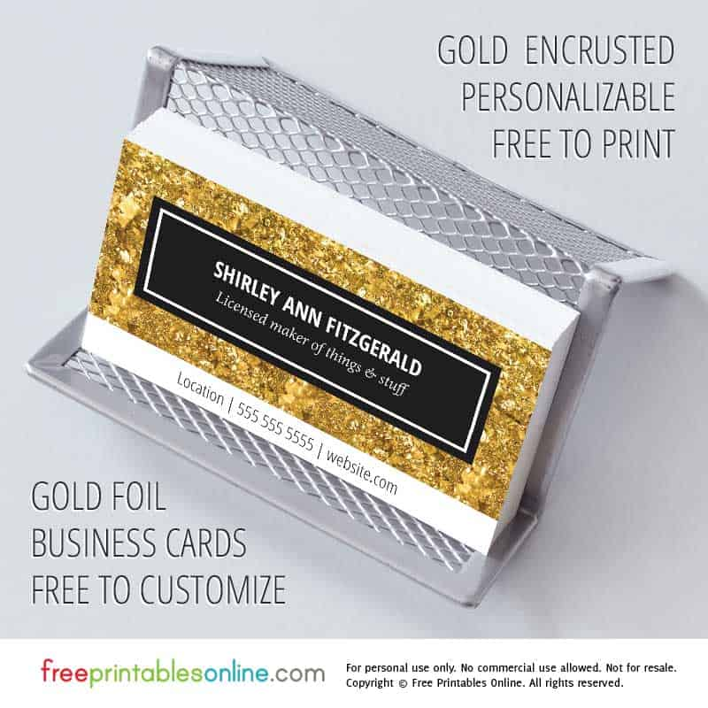 Gold Personalized Business Cards