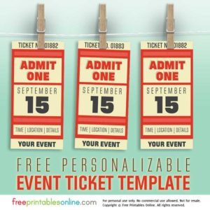 Free Personalized Event Ticket Template