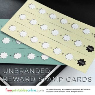 Unbranded Printable Loyalty Cards