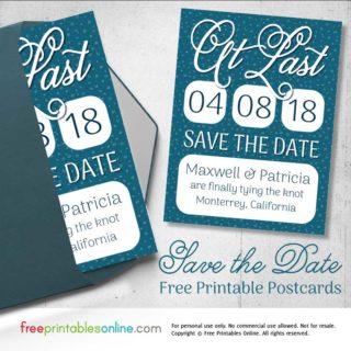 Printable Save the Date Postcards