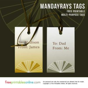 Mandarays Contemporary Printable Gift Tags