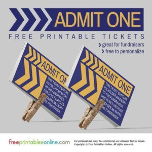 Retro Angular Admit One Fundraiser Ticket