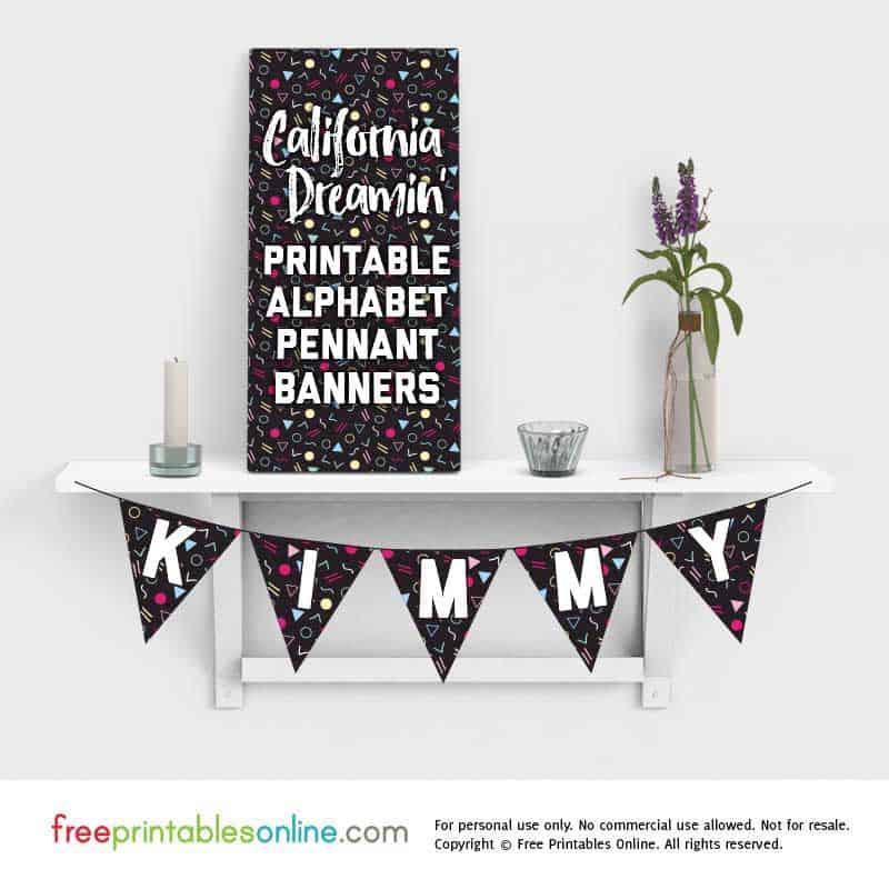 printable pennant banner