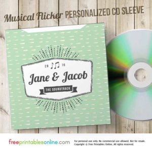 Musical Flicker Free Personalized CD Envelope