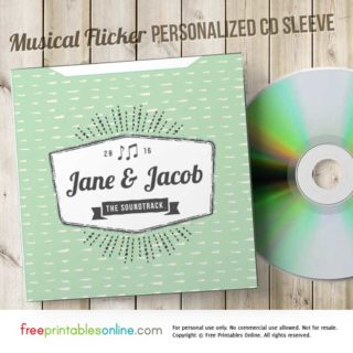 Personalized CD Envelope