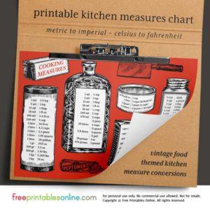 Vintage Kitchen Measurement Converter Chart
