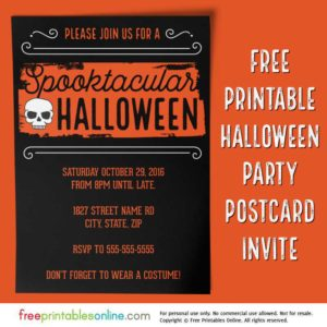 Spooktacular 2016 Halloween Party Invitation