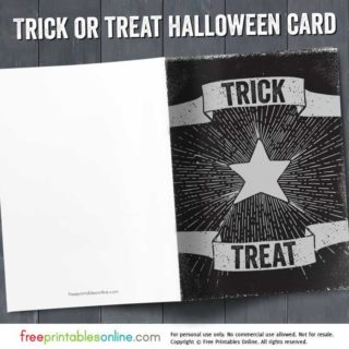 Trick or Treat Halloween Card