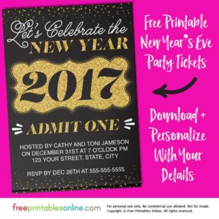 new years eve ticket template