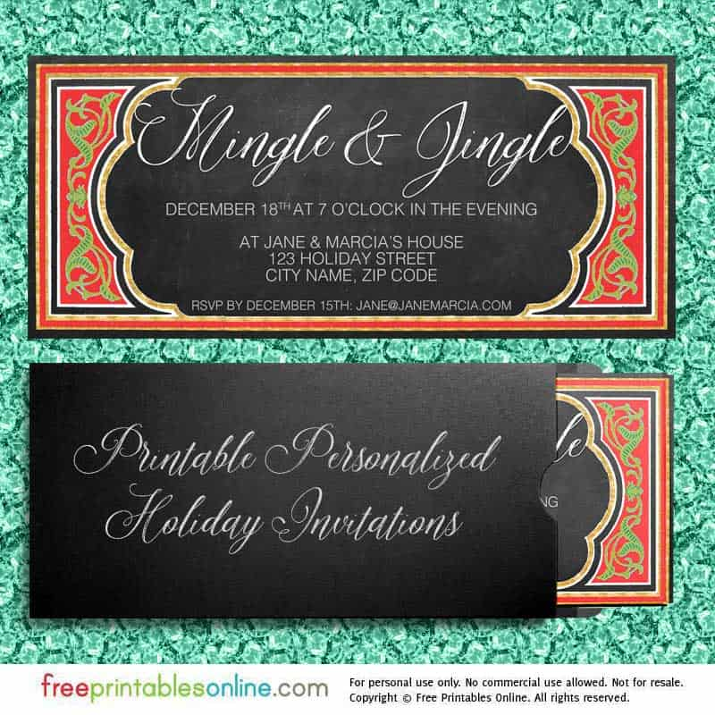 printable holiday invites