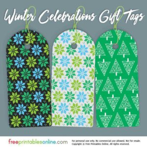 Printable Holiday Gift Tags for Winter Celebrations