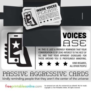Cell Phone Annoyance Passive Aggressive Inside Voices Card