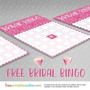Pink Diamonds Free Bridal Shower Bingo