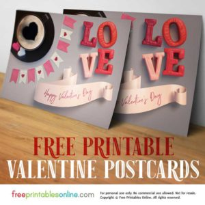 Printable Postcard for Valentine's Day