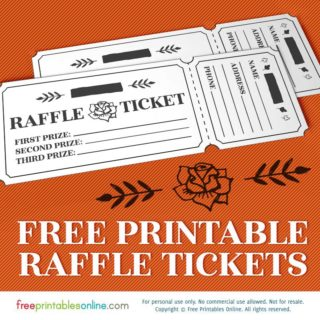 printable rosy raffle tickets free raffle template - Free Online Printables