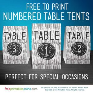 Free Printable Vector Wood Table Number Signs