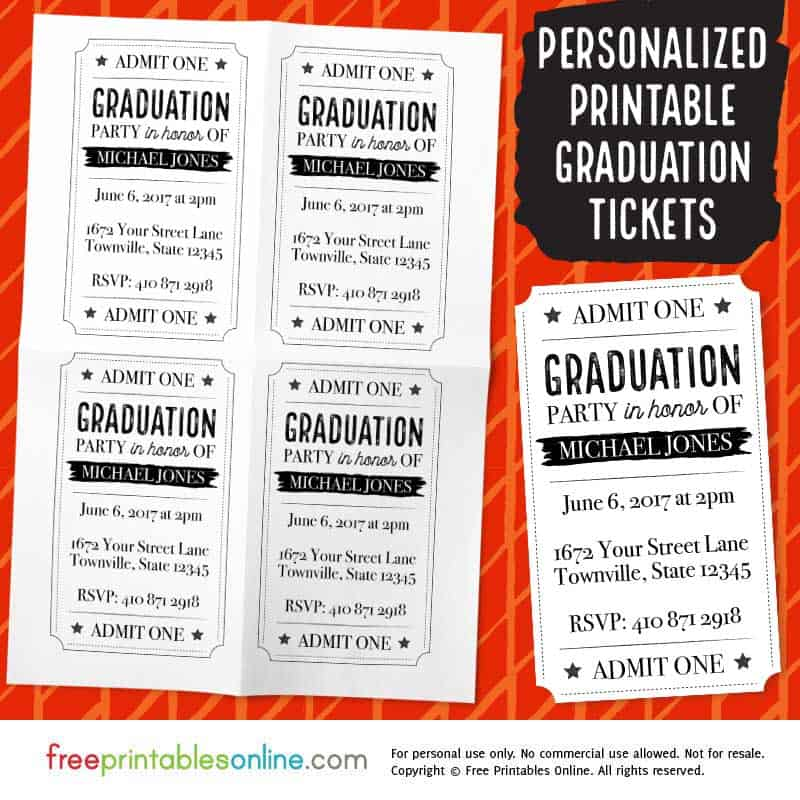 printable vintage barrel graduation party tickets free printables