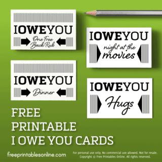 IOU Business Cards