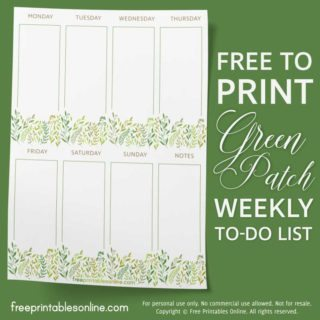 Weekly To Do List Stationery