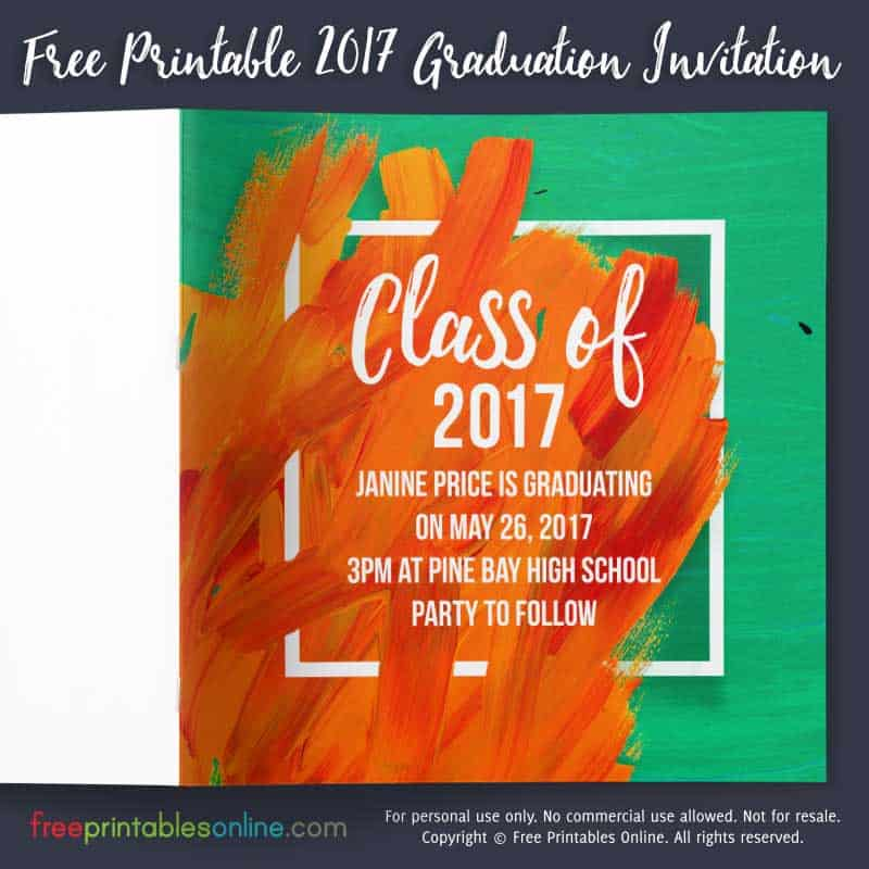 Class of 2017 Graduation Invitation Template