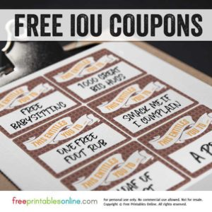 This Entitles You To IOU Coupon