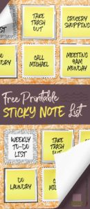sticky note to do list