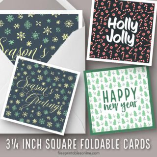 Square Foldable Christmas Cards