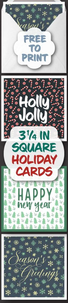 3 1/4 Inch Foldable Christmas Cards