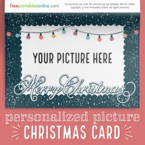 Snowy Frills Personalized Merry Christmas Photo Card