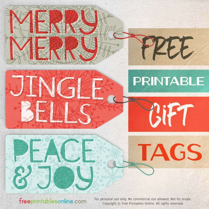 Snowflake Festive Gift Tags to Print