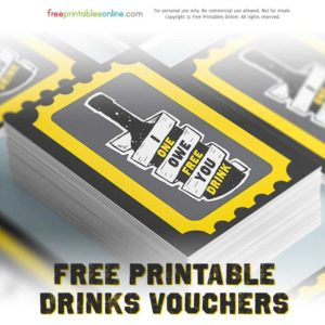 Print Drink Tickets for Your Parties