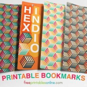 Free Downloadable Indio Hex Bookmarks