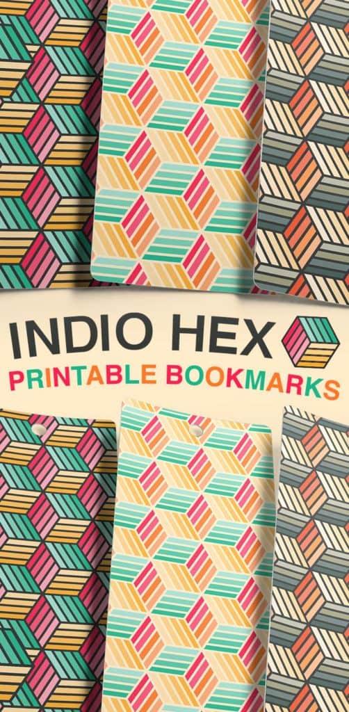 Free Printable Indio Hex Bookmarks