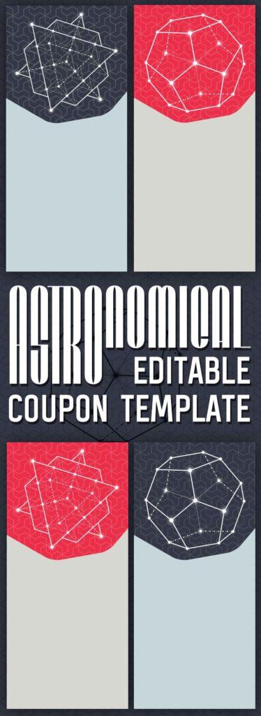 Astronomical Editable Coupon Template