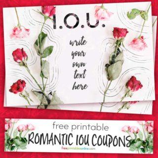 Romantic IOU Coupon to print