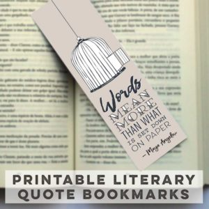 Printable Bookmarks Free Printables