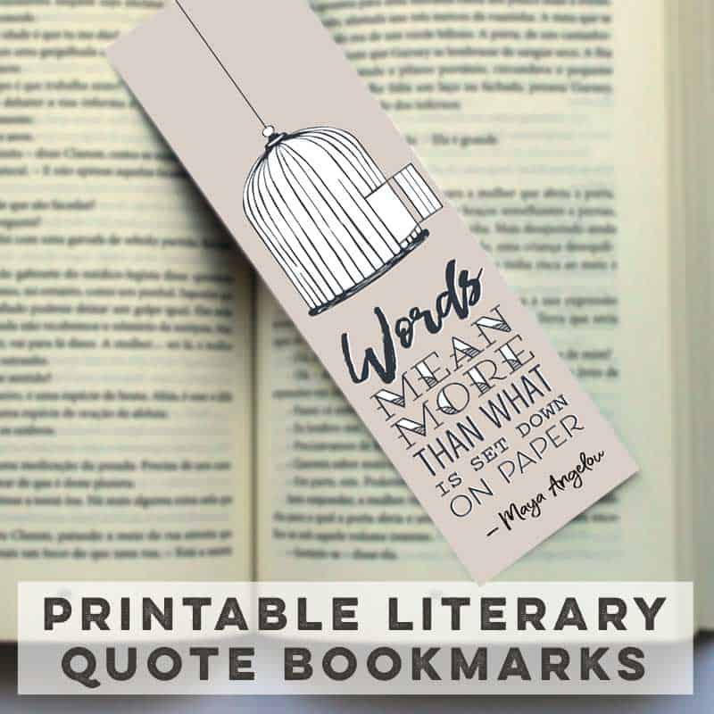 Free Literary Quote Bookmarks to Print