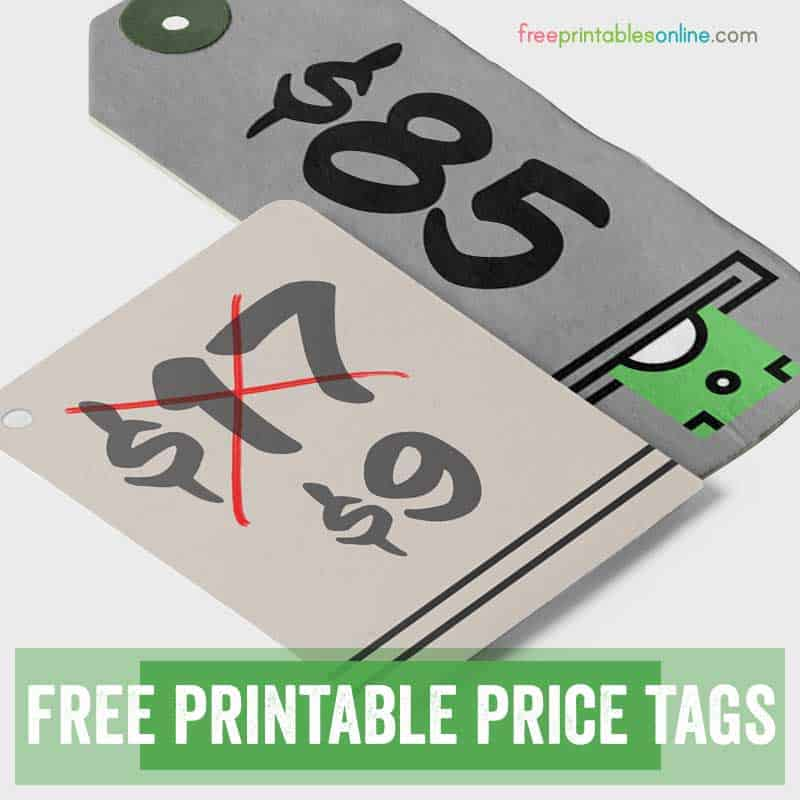 Free Printable Price Tags