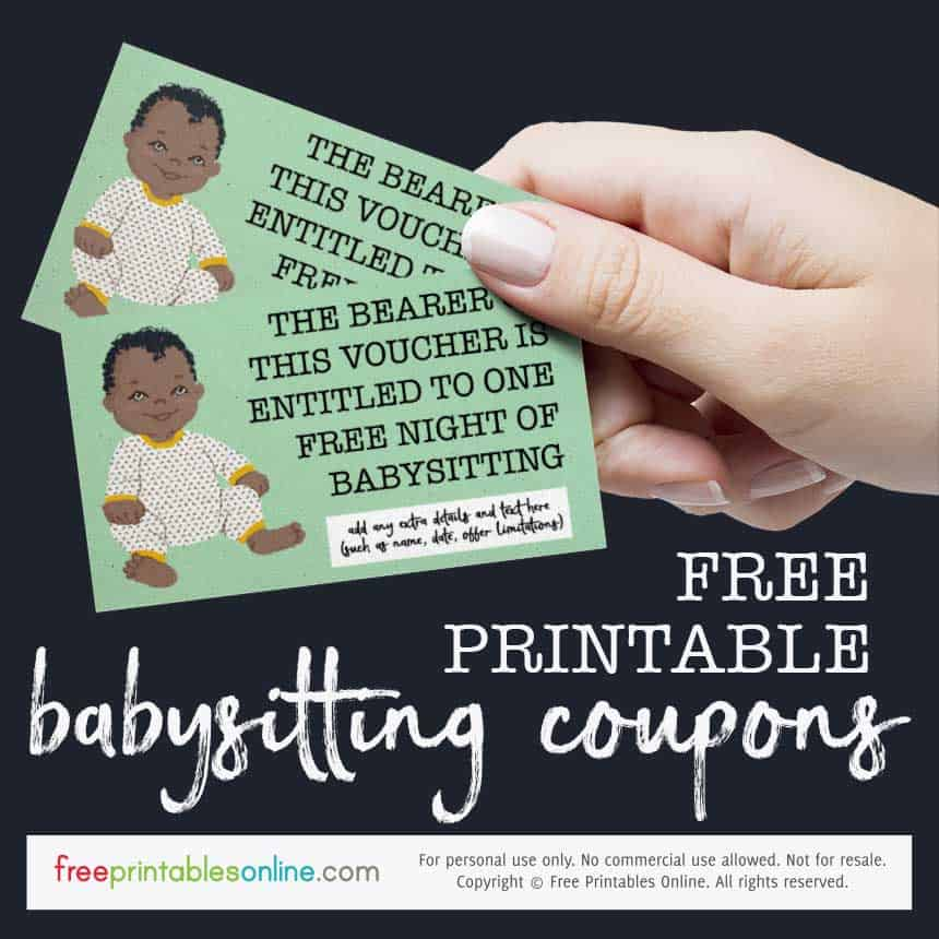 Cute Onesie Free Babysitting Voucher
