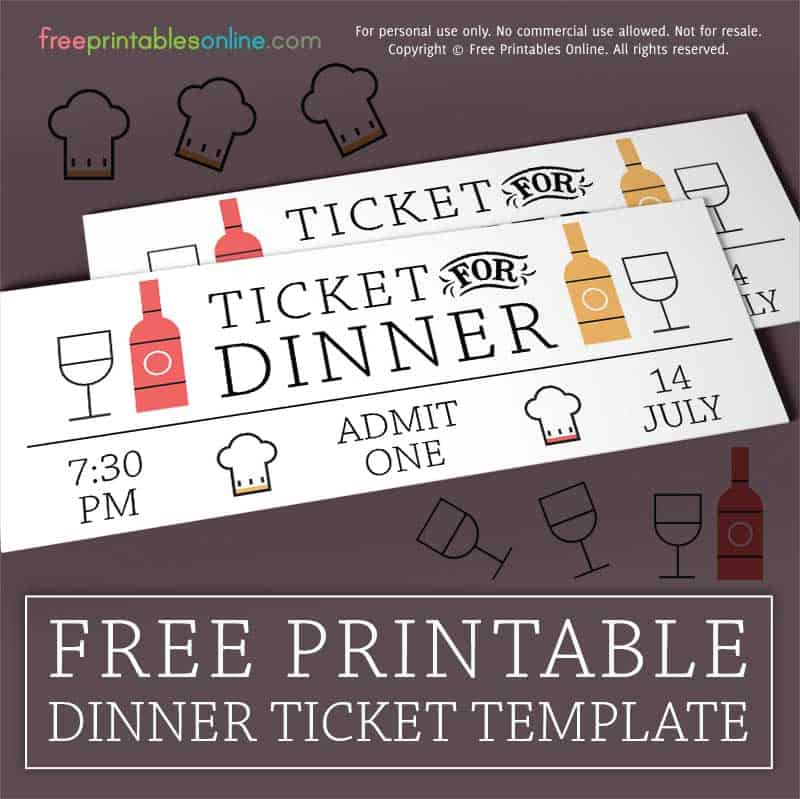 Wined Up Dinner Ticket Template