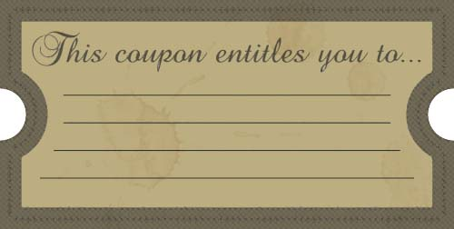 This coupon entitles you to free printables online for Free meal coupon template