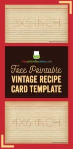 Vintage Recipe Card Template
