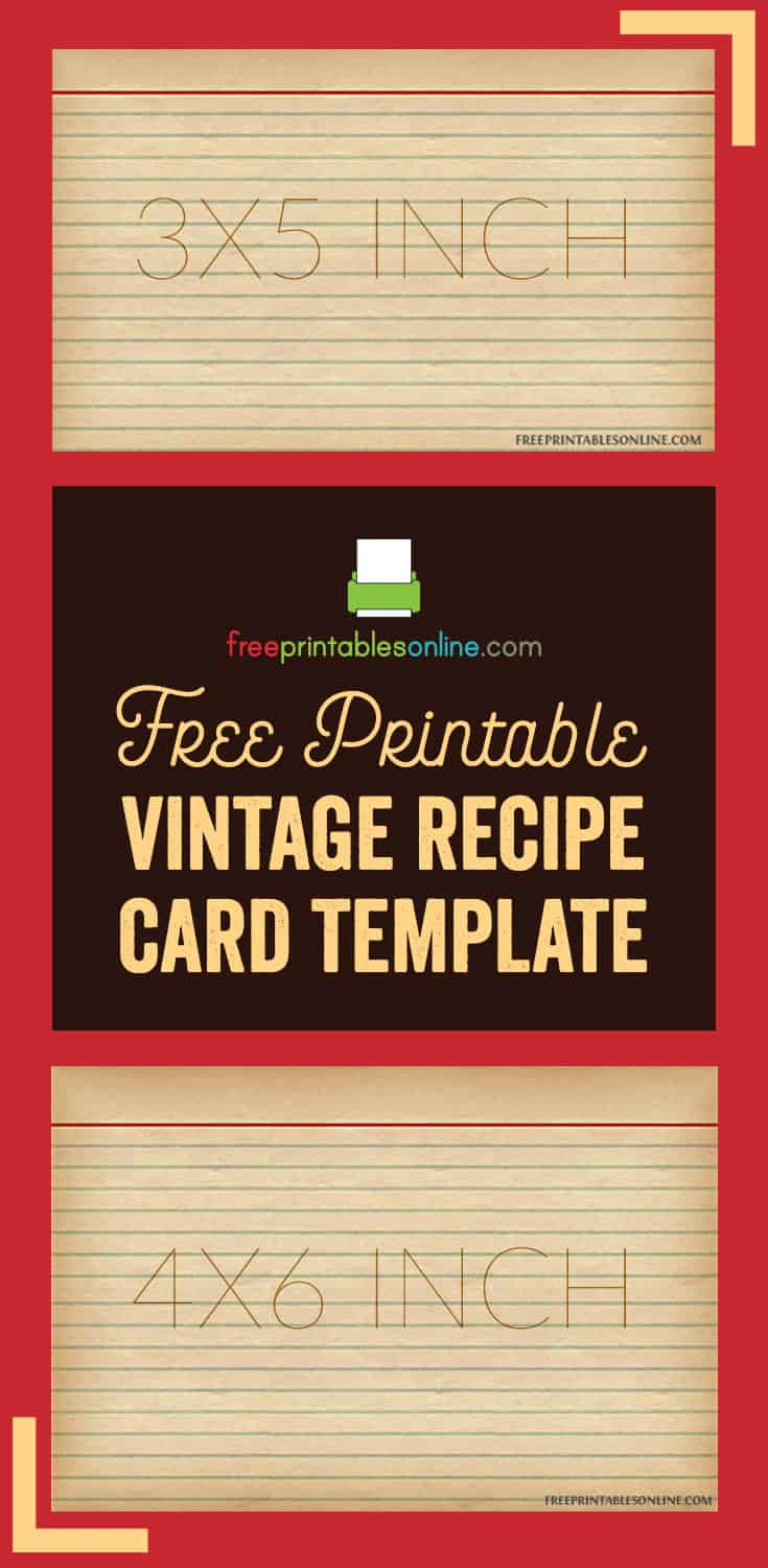 vintage recipe card template