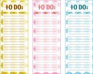 Printable To Do Lists